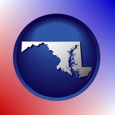 Beautiful Maryland map icon.