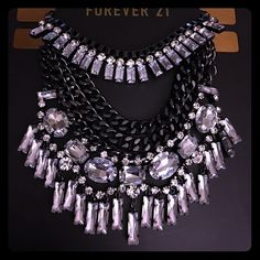 Beautiful 2 piece statement necklace Brand new, Beautiful, 2-piece statement necklace from F21. This necklace is actually made up of 2 pieces and can be worn separate or together allowing for more versatility with this piece. Forever 21 Jewelry Necklaces