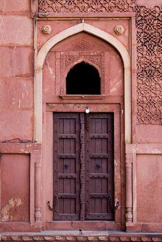 Pantone color for Marsala - Agra Fort Cool Doors, Unique Doors, Marsala, Ville Rose, Agra Fort, Closed Doors, Doorway, Door Knobs, Windows And Doors