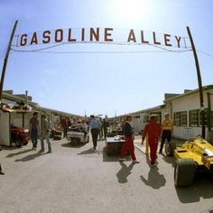 The old Gasoline Alley sign.  (the garage area of IMS)