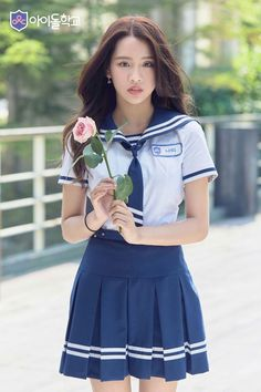 aн ena ĸeĸnya [private on some chap] warn; School Uniform Outfits, School Girl Outfit, Pop Fashion, Girl Fashion, Fashion Design, Korean Girl, Asian Girl, School Girl Japan, Little Girls