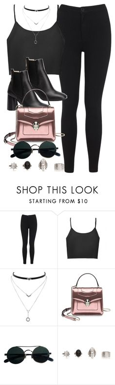 """#14804"" by vany-alvarado ❤ liked on Polyvore featuring Miss Selfridge, Jessica Simpson and Bulgari"