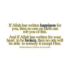 Qadr of Allah.