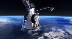 Daredevil Skydiver Felix Baumgartner freefall from space