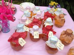 """Wonderland party drinks - these cute Motts apple juice bottles from Costco made perfect """"drink me"""" concoctions"""