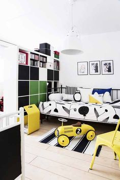 This modern kid's room design look awesome!
