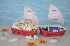Moana Polynesian boat food snack trays and by GlitterInkDesigns