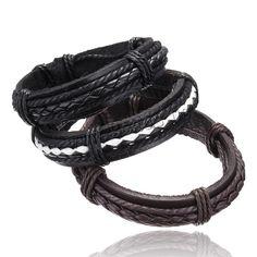 Pu pulseras de cuero y brazaletes alta calidad pulsera de cuero fresco hombres estilo Casual hombres de moda de joyería del precio de fábrica
