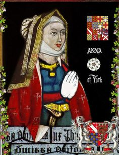 Princess Anne of York, Lady Howard (2 November 1475 - 23 November 1511) was the fourth surviving daughter of King Edward IV of England and Elizabeth Woodville. On 4 February 1495, Anne was married to Thomas Howard (later 3rd Duke of Norfolk) at Westminster Abbey. As Lady Howard, she managed to live until her nephew was crowned King Henry VIII in 1509.