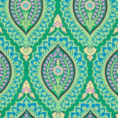 Amy Butler - Alchemy - Imperial Paisley in Emerald hmmm i like this for ezra's bathroom someday to go with his kelly green room