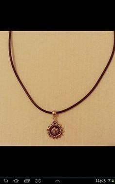 Sunflower Choker Necklace https://www.etsy.com/listing/226402279/sunflower-choker-necklace-on-black