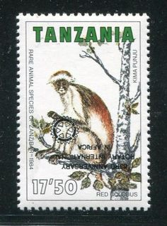 Tanzania Rotary Club Inverted Overprint Stamps