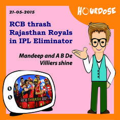 RCB thrash Rajasthan Royals in IPL Eliminator