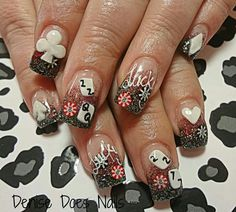 Nail art from the NAILS Magazine Nail Art Gallery, acrylic, poker nail art, poker nails, Vegas Nail Art, Las Vegas Nails, Love Nails, Fun Nails, Toe Pics, Vegas Birthday, Toe Designs, Beauty Spa, Nagel Gel