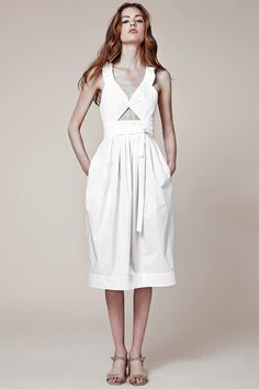 Jill Stuart white wrap tie cutout day dress | Resort 2015 Collection | Style.com