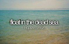 Bucket List / Float in the dead sea
