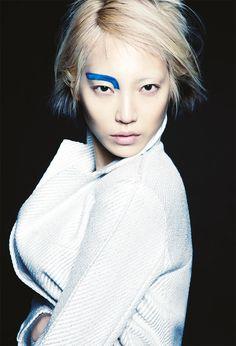 koreanmodel:  Soo Joo for Glass Magazine Spring 2014 by Bojana Tatarska.