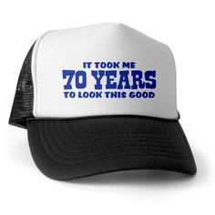 CafePress - Funny 70th Birthday Trucker Hat - Trucker Hat, Classic Baseball Hat, Unique Trucker Cap >>> Continue to the product at the image link.