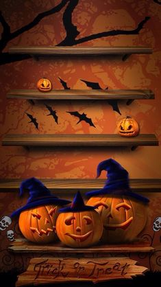 Paint a faux wall painting, and display area. Retro Halloween, Halloween Kunst, Halloween Artwork, Halloween Prints, Halloween Items, Halloween Signs, Halloween Pictures, Halloween Wallpaper, Halloween Cards