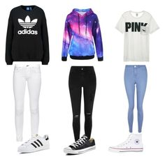 Cute Outfits by kitty101-1 on Polyvore featuring polyvore, fashion, style, adidas Originals, Victoria's Secret, rag & bone, River Island, New Look, adidas, Converse and clothing