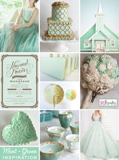 #mint green and #gold #wedding ideas : inspiration board
