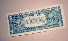 1D one thing