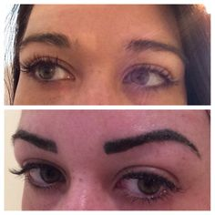 Semi permanent make up at Cherish by Lianne. Before and after brows