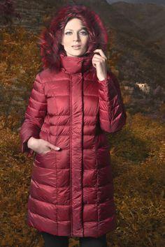 Piumino #Lindas color rosso  ^_^ Seguici su www.lindas.it ;)