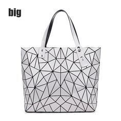Fashion Diamond Summer bag large Quilted ladies Handbag bag female  Geometric tote Laser woman shoulder bags d13e5dbc35e77