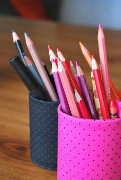 Pot à crayons récup cannette de soda