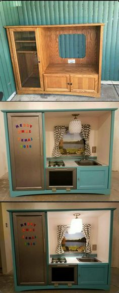 Turn an old cabinet into a kids diner lifehacks pinterest another persons trash became my daughters treasure solutioingenieria Gallery