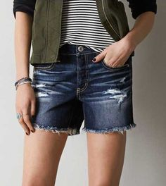 AEO Destroyed Slouchy Bermuda Short - Buy One Get One 50% Off