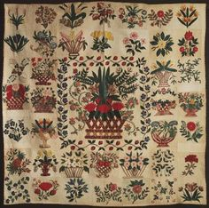 Botanical Album Quilt 1840-1845 Philadephia Museum of Art