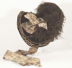 Velvet bonnet, c.1830, from the Vintage Textile archives.