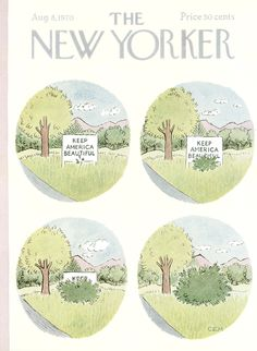 The New Yorker - Saturday, August 8, 1970 - Issue # 2373 - Vol. 46 - N° 25 - Cover by : Charles E. Martin