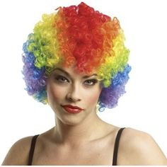 Rainbow Economy Afro Clown Wig - Costume Wigs