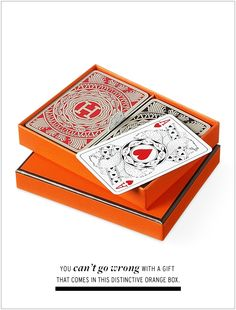 Hostess gift... Hermes playing cards