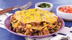 Treat your family to this cheesy beef enchilada stack. A slow cooked Mexican dinner made using Green Giant® corn, Progresso® beans and Old El Paso® sauce. Enchilada Casserole Beef, Slow Cooker Casserole, Beef Casserole Recipes, Beef Enchiladas, Slow Cooker Recipes, Crockpot Recipes, Potluck Recipes, Pork Recipes, Dinner Recipes
