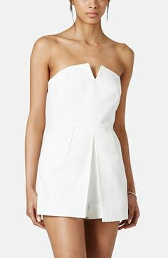 Topshop Notched Neck Romper {cute}