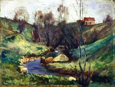 Stream in Spring - Edvard Munch 1882 Private Collection