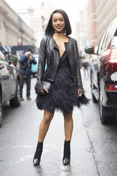 Pin for Later: Retour Sur les Meilleurs Looks Street Style de la Fashion Week de New York Jour 5 Karruche Tran.