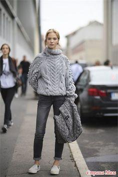 Объемный свитер из толстой пряжи-моя работа. - Вязание - Страна Мам