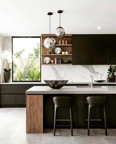 Kitchen Lighting Design, Luxury Kitchen Design, Best Kitchen Designs, Home Decor Kitchen, Kitchen Furniture, Kitchen Interior, New Kitchen, Apartment Interior, Kitchen Ideas