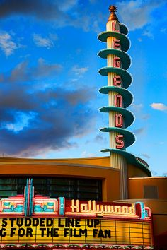 Atomic Age architecture - Legends of Hollywood theater (photo by Matt Pasant, via Flickr)