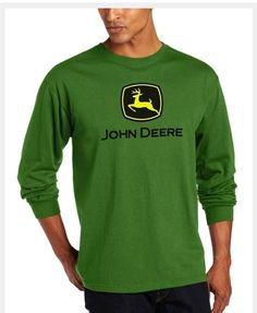 105169c6 18.98 | John Deere Men's Trademark Logo Core Long Sleeve Tee Green 2XL NWT ❤