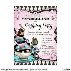 Vintages Märchenland-Geburtstags-Party 11,4 X 15,9 Cm Einladungskarte