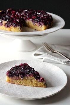 BLUEBERRY, LEMON AND WHITE CHOCOLATE UPSIDE DOWN CAKE