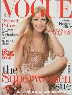 VOGUE UK   GWYNETH   PALTROW    THE SUPERWOMAN ISSUE  DEC 2005 .FREE POST