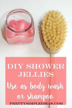 DIY Shower Jellies for Body