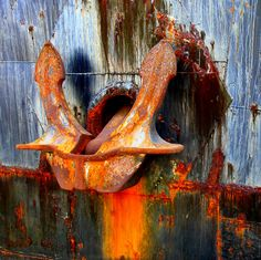 Weathered anchor
